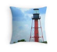 Anclote Island Lighthouse Throw Pillow