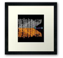 block surrounded life Framed Print