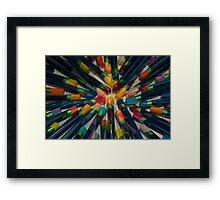 Colourful Tips Framed Print