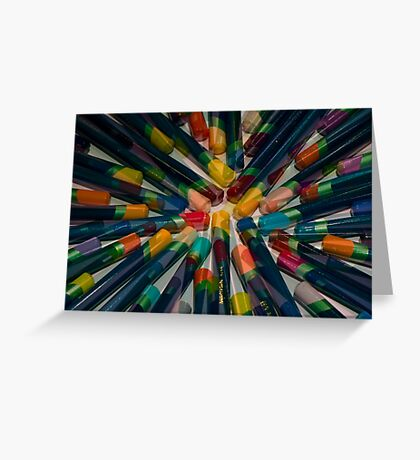 Colourful Tips Greeting Card