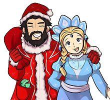 Dota 2 - Kunkka and Crystal Maiden christmas by keterok