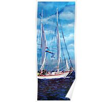 Profile of a Sailboat Poster