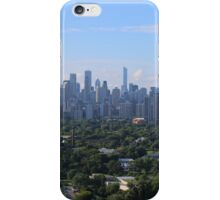 Chicago skyline in summer iPhone Case/Skin