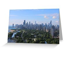 Chicago skyline in summer Greeting Card