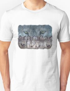 Can you see the wolves for the trees? Unisex T-Shirt