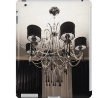 Chandelier with black shade iPad Case/Skin