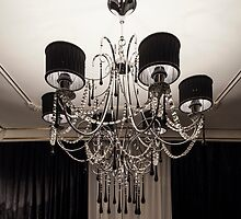 Chandelier with black shade by mrivserg