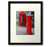 Old Communication Tools Framed Print