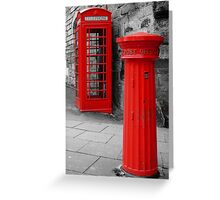 Old Communication Tools Greeting Card