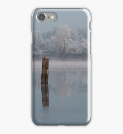 quiet misty morning on the river iPhone Case/Skin