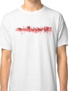 London skyline in red watercolor on white background Classic T-Shirt