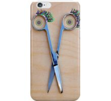 The smile of the scissors iPhone Case/Skin