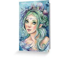 Cracia Green Greeting Card