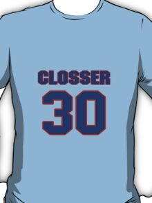 National baseball player JD Closser jersey 30 T-Shirt