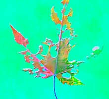 Somebody had Leaf for Lunch – Green One by Mike Solomonson