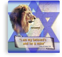 I am my beloved's and he is mine Canvas Print