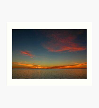 Sunset, Ningaloo Art Print
