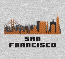 Golden Gate Bridge San Francisco California Skyline Created With Lego Like Blocks Kids Clothes
