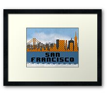 Golden Gate Bridge San Francisco California Skyline Created With Lego Like Blocks Framed Print