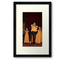 Kumu Hula enjoying a chance to dance again Framed Print