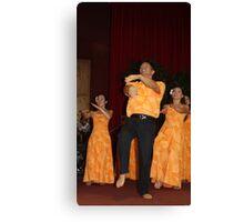 Kumu Hula enjoying a chance to dance again Canvas Print