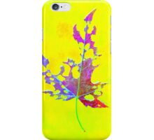 Somebody had Leaf for Lunch – Yellow iPhone Case/Skin
