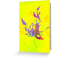 Somebody had Leaf for Lunch – Yellow Greeting Card