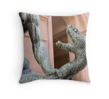 "Detail of ""Hercules combatant Achelous"" Throw Pillow"