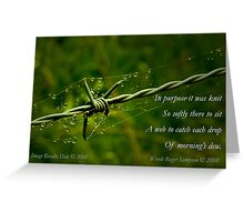 Collaboration ~ Beauty and the Barbed Wire Greeting Card