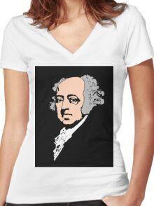 JOHN ADAMS-2 Women's Fitted V-Neck T-Shirt