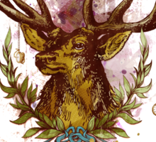 Oh deer, is that the time? Sticker