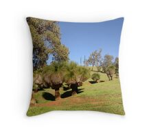 Blackboys in the valley Throw Pillow