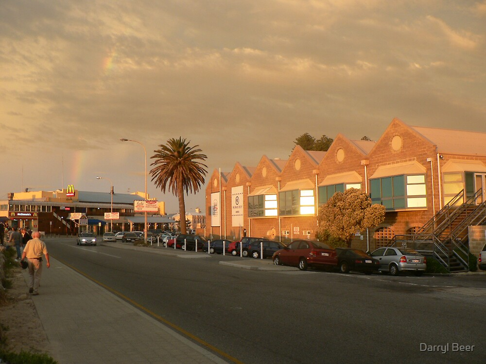 Sunset over Freo II by Darryl Beer