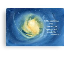 The Beginning- Genesis 1:1 Canvas Print