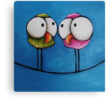 Twittering girls Canvas Print