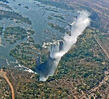 Victoria Falls from above Zimbabwe by Graeme  Hyde