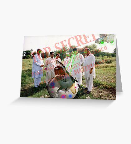 Pakistani Top Secret UFO Material Greeting Card