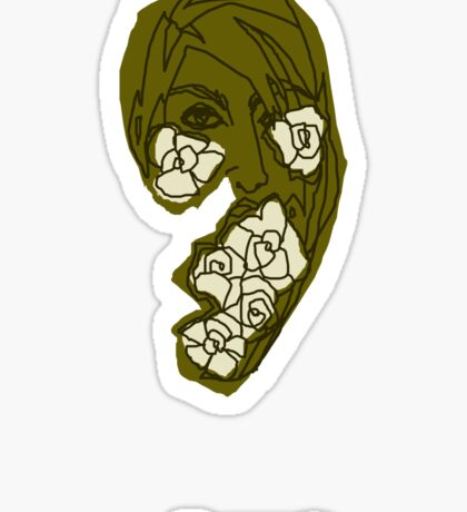 'Khaki Rose' Sticker