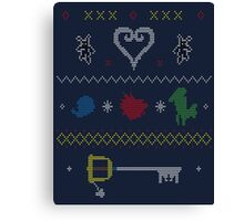 Kingdom Hearts Xmas Canvas Print