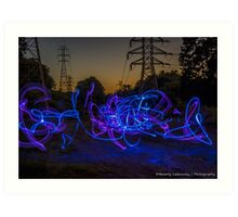 Light Painting at Sunset Art Print