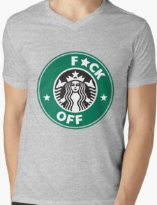 Starbucks Logo - F*CK OFF  Mens V-Neck T-Shirt
