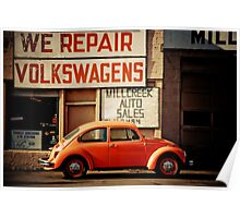 We Repair Volkswagens Poster