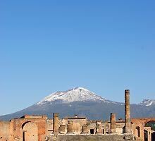 Temple of Jupiter and Mt Vesuvius, Pompeii  by Petr Svarc