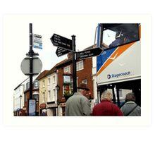 Village Busstop Art Print