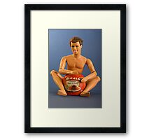 Ken with meat and gravy pie Framed Print