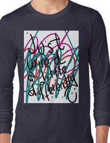 """Autism Aspergers Syndrome - """"Just wired a little differently"""" Long Sleeve T-Shirt"""