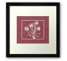 Marsala and White Daffodil Design Framed Print