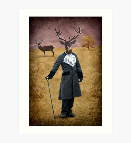 The man who changed himself into a deer Art Print
