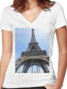 Eiffel Tower Women's Fitted V-Neck T-Shirt