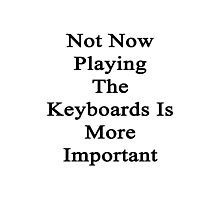 Not Now Playing The Keyboards Is More Important  Photographic Print